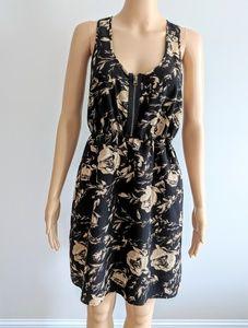 Kimchi Blue... tan & black floral lace back dress